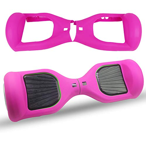ABBY Protectora Silicona para 6.5' Smart Scooter Balance Patinete Electrico Hoverboard Cover (Rosa roja)