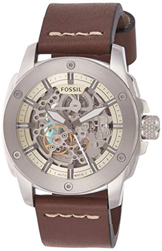 Fossil Men's Modern Machine ME3083 Brown Leather Swiss Automatic Fashion Watch