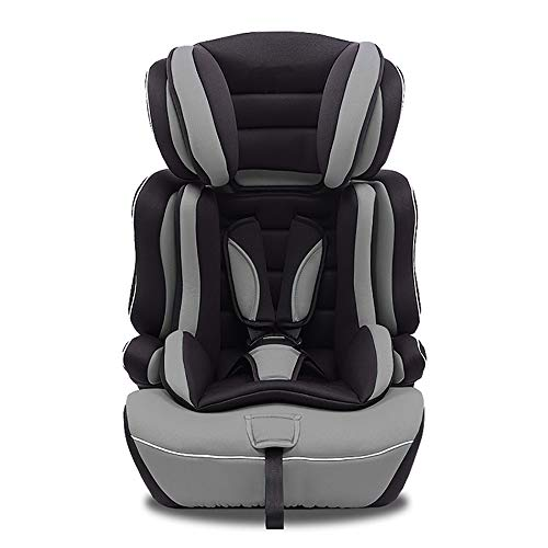 Star Ibaby Silla de Coche con Reductor de Viscofoam, Grupos 1/2/3 - (9 a 36 kg), Color Black Grey