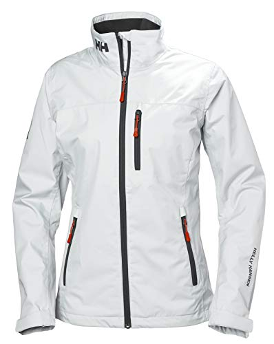 Helly Hansen W Crew Midlayer Jacket Chaqueta Impermeable, Mujer, White, M
