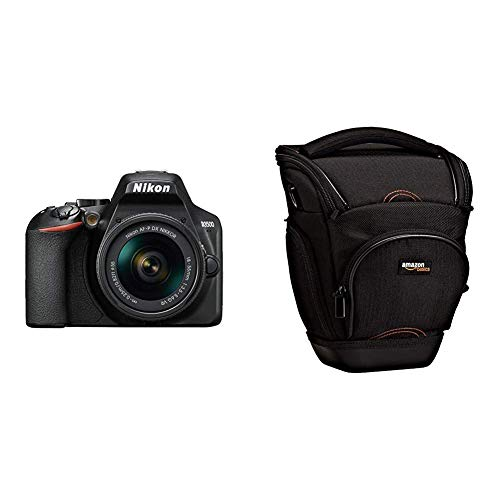 Nikon D3500 - Cámara Digital 24,2 MP VR (24,2 MP, 6000 x 4000 Pixeles, CMOS, Full HD, 365 g, Negro) - Nikonistas & Amazon Basics - Funda para cámara de Fotos réflex, Color Negro