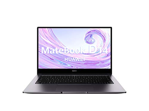 Huawei Matebook D14 - Ordenador Portátil Ultrafino de 14' FullHD (AMD Ryzen 5 3500U, 8GB RAM, 256GB SSD, Radeon Vega 8 Graphics, Windows 10 Home) Space Gray - Teclado Qwerty Español