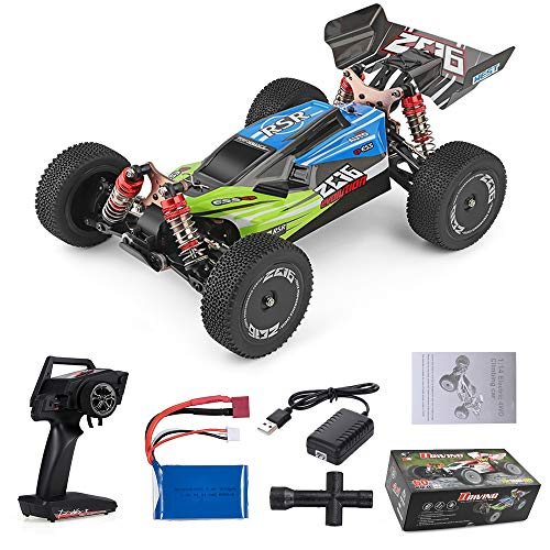Goolsky Wltoys XKS 144001 RC Coche 60km / h Alta Velocidad 1/14 2.4GHz RC Buggy 4WD Racing Off-Road Drift Coche RTR (Verde)