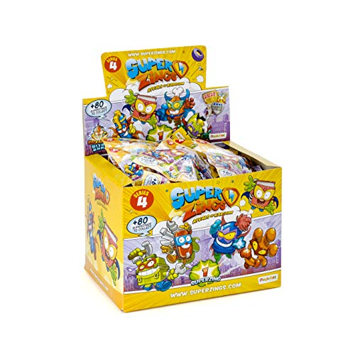 SuperZings - Serie 4 - Display de 50 Figuras Coleccionables (PSZ4D850IN01), con 1 Figura en cada Sobre