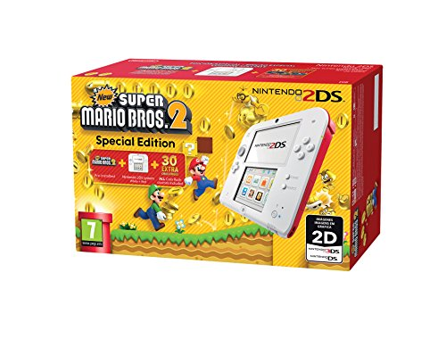 Nintendo 2DS - Consola, Color Rojo + New Super Mario Bros 2 (Preinstalado)