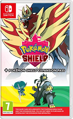 Pokemon Shield + Expansion Pass (The Isle or Armor + The Crown Tundra) Nintendo Switch Game