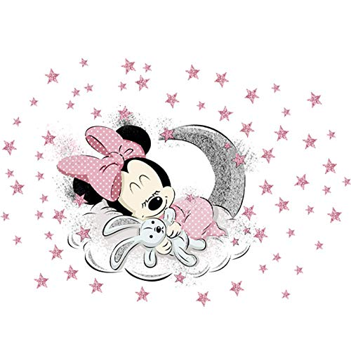 Kibi - 2 Pegatinas Infantiles Pared Minnie Pegatinas Decorativas Pared mickey Mouse Stickers Pared Mickey Dormitorio Calcomanias para Niños Pared Calcomanias Mickey XXL