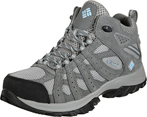 Columbia Canyon Point Mid, Zapatos de Senderismo Impermeables Mujer, Gris (Light Grey, Oxygen), 4.5