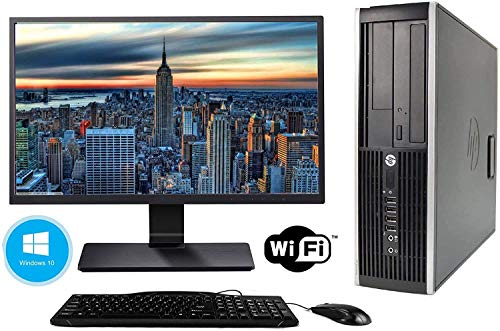 Hp Elite 8300 - Ordenador de sobremesa + Monitor 24'' (Intel Core i5-3470, 8GB de RAM, Disco de 240 SSD+ 500GB HDD, Lector DVD, WiFi,Windows 10 Pro 64) (Reacondicionado)