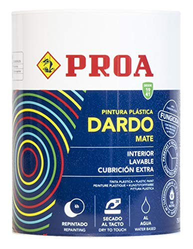 PINTURA PLASTICA DARDO BLANCO INTERIOR MATE 750ML